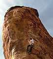 Katie brown climbing at calico basin, red rocks.jpg