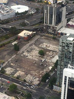 Melbourne Square (complex) - The vacant site on Kavanagh Street