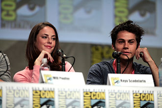 Kaya Scodelario - Kaya Scodelario and Dylan O'Brien at a panel for the Maze Runner film at San Diego Comic-Con International in July 2014