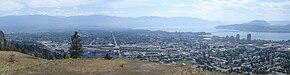 Kelowna, British Columbia, Canada, on the Okanagan lake, city vu ... | 75x290