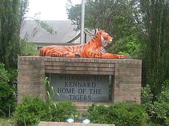 Kennard, Texas - Kennard High School Tigers exhibit