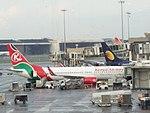 Kenya Airways Boeing 737 aircraft at Mumbai airport.jpg