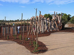 Royal Botanic Gardens, Cranbourne - The Kid's Backyard exhibition garden