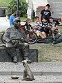 Kids with Sculpture of The Good Soldier Svejk - Przemysl - Poland (36372299585).jpg