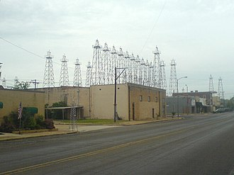 Boomtown - Ornamental oil derricks in Kilgore, Texas, United States