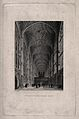King's College Chapel, Cambridge; interior. Line engraving b Wellcome V0012348.jpg