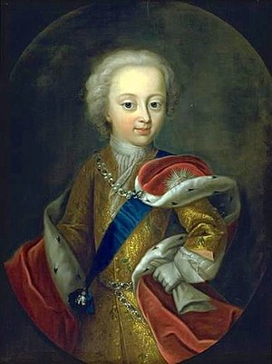 Frederick V of Denmark - Frederick as a child wearing the sash of the Order of the Elephant