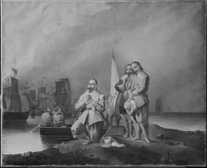King Gustav II Adolf of Sweden Goes Ashore on Rügen.