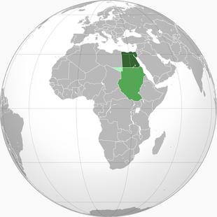Location of the Khedivat Egypt (dark green)