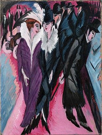 Berlin - Street, Berlin (1913) by Ernst Ludwig Kirchner