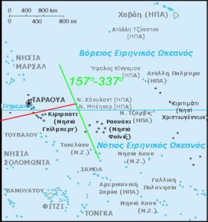 Χάρτης της επίμαχης περιοχής του Ειρηνικού