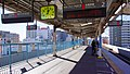 Kita-Asaka Station platform west end 20161230.jpg