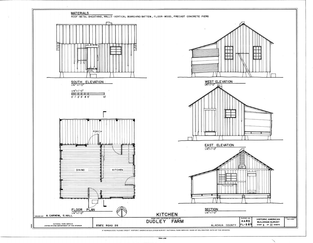 File Kitchen Elevations Floor Plan and Section Dudley Farm