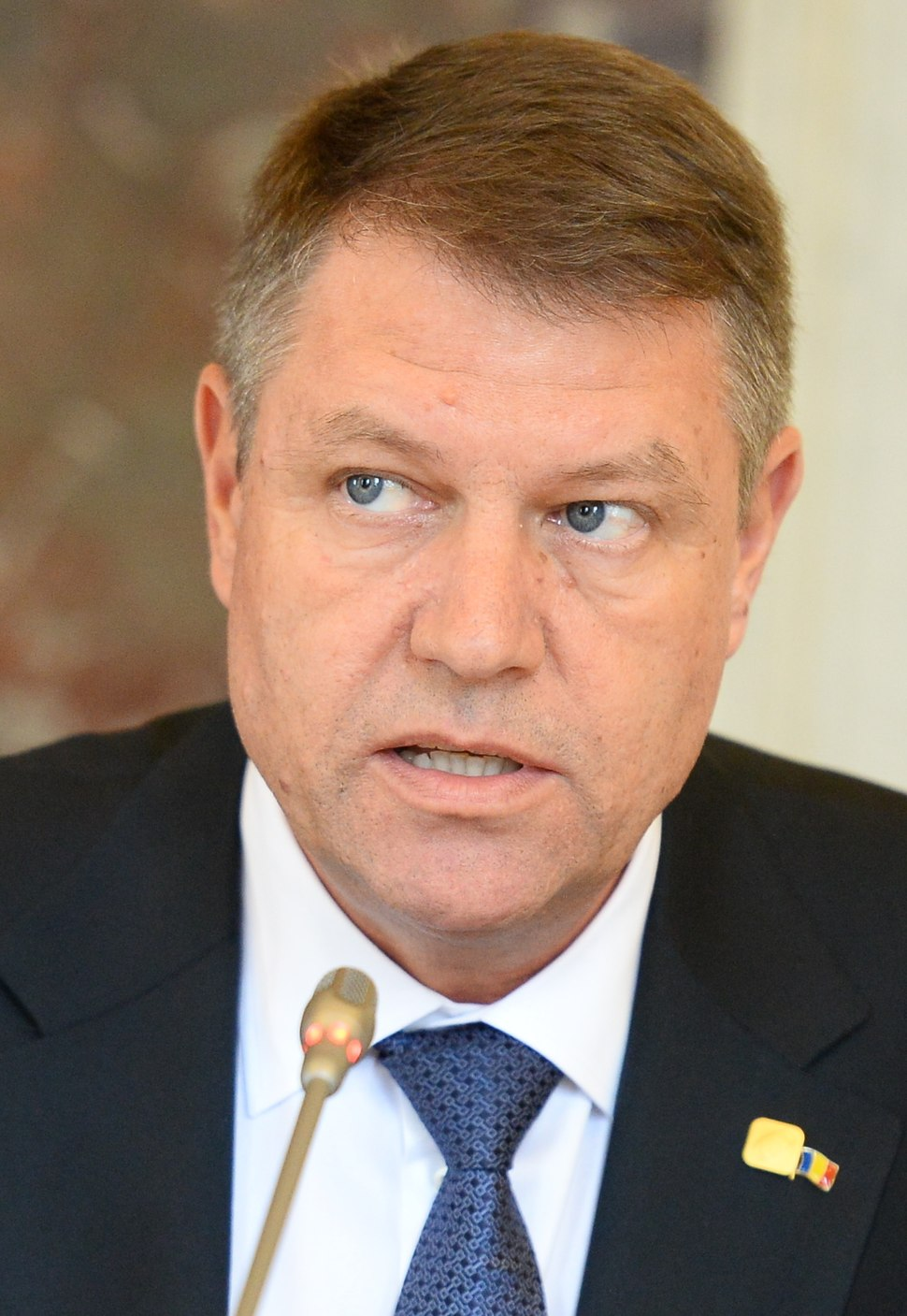 Klaus Iohannis at EPP Summit, March 2015, Brussels (cropped)