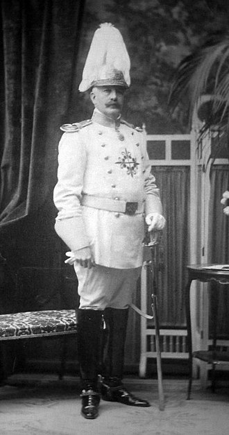 Order of Alcántara - The Marquess of Huarte in uniform of a knight of the Order of Alcántara, ca. 1910