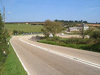 A303 road - The western end of the A303 is a lower standard of road through the Blackdown Hills