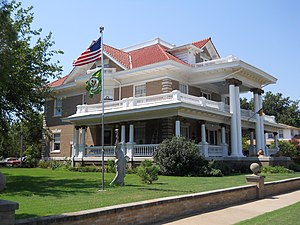 Waverley Historic District (Enid, Oklahoma) - Image: Knox Hedges Mansion