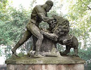Köllnischer Park - Hercules Fighting the Nemeian Lion, by Gottfried Schadow