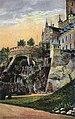 Kolorierte Postkarte vom Südflügel des Schlosses Marienburg um 1920.jpg