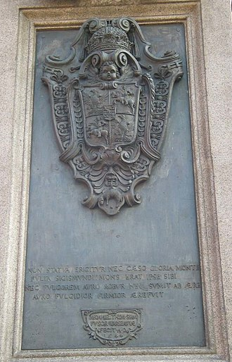 Sigismund's Column - Image: Kolumna Zygmunta tablica północna