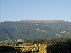Koralpe - The central part of the Koralpe with the Große Speikkogel, as seen from the west