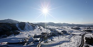 Pyeongchang County - PyeongChang, Gangwon - winter is cold but dry, with typically clear blue skies.