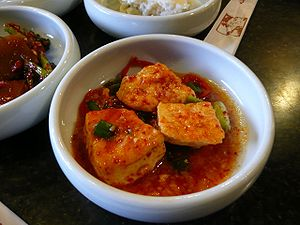 Dubu jorim, braised tofu in Korean cuisine