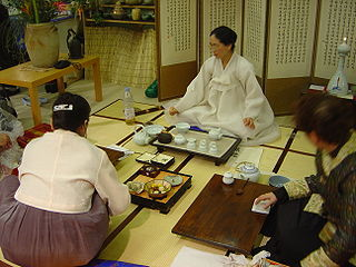 Traditional form of tea ceremony practiced in Korea