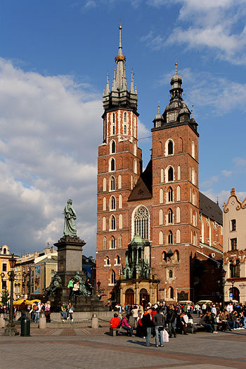 Church of St. Mary in Kraków (Poland). Françai...