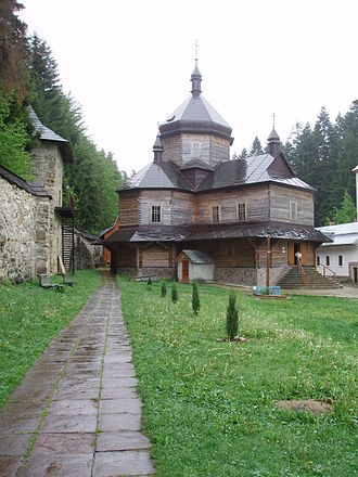 Skete - Maniava Skete in the wilderness of the Carpathian mountains in west Ukraine