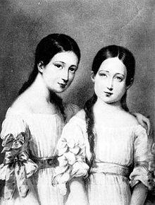 La futura imperatrice Eugenia con sua sorella Paca.