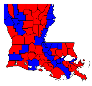 United States Senate election in Louisiana, 1996 - Image: LA Sen 96Counties