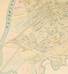 Map of Flushing in 1891.