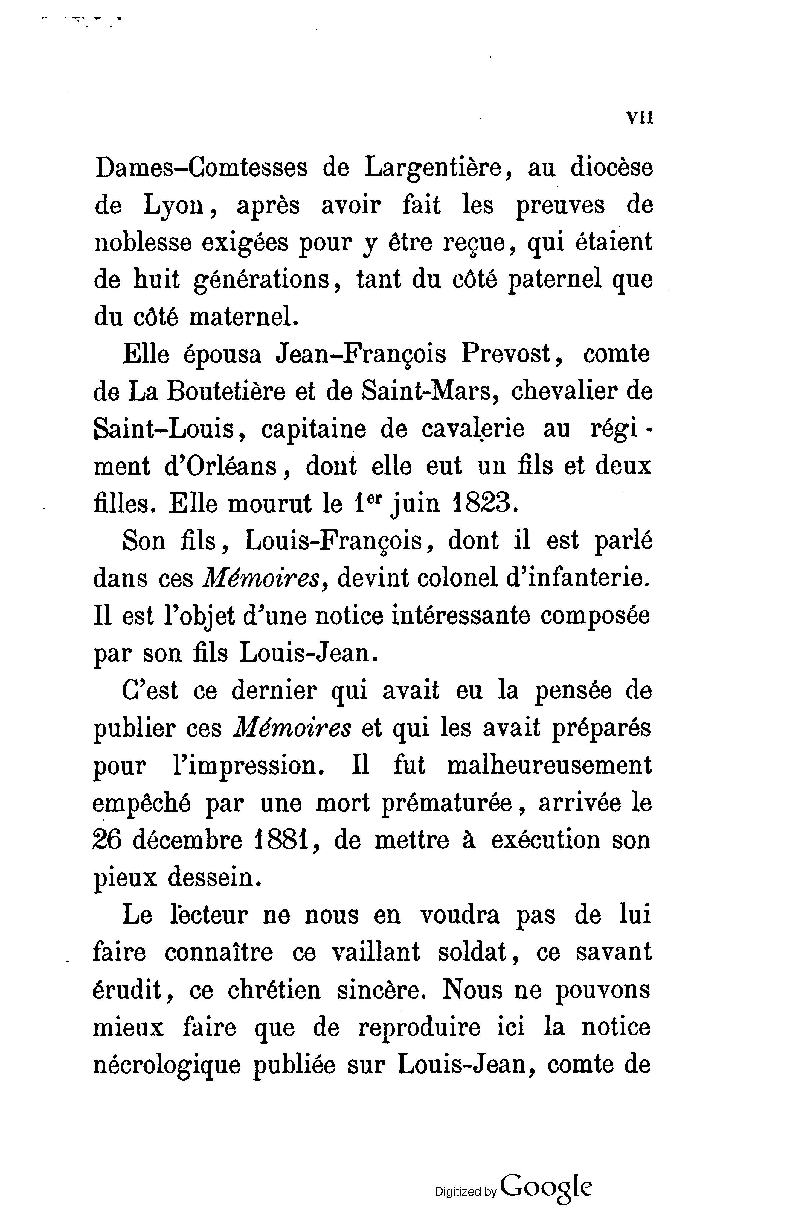 Notice nécrologique sur le Comte de Mailly-Chalon -