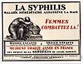 La Syphilis - maladie héréditaire assassine la race. Femmes combattez la!.jpg