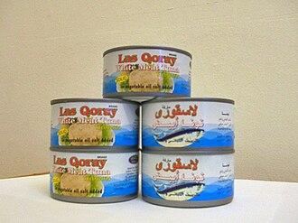 Economy of Somalia - Cans of Las Qoray brand tuna fish made in Las Khorey.