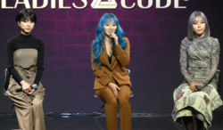 Ladies' Code kuvattuna lokakuussa 2019. (Vas. oik) Zuny, Sojung ja Ashley