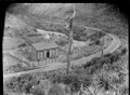 Ladle Bend on the Wairarapa railway line between Kaitoke and the Summit. ATLIB 273292.png