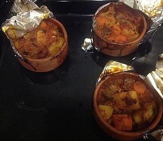 Güveç - Turkish lamb güveç with potatoes, carrots and other vegetables