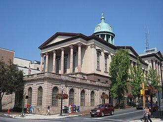 Samuel Sloan (architect) - Lancaster County Courthouse, Lancaster, Pennsylvania (1852)