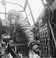 Lancaster flight engineer WWII IWM CH 12289.jpg