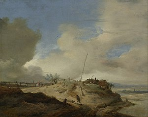 Landscape with signal post