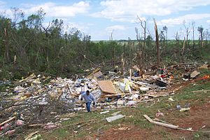 Tornado outbreak of April 27–28, 2002 - Damage from the La Plata, Maryland tornado.