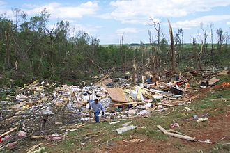 Tornado outbreak of April 27–28, 2002 - Damage from the La Plata, Maryland tornado.