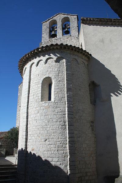 Laroque - Chevet de la chapelle Saint-Jean.