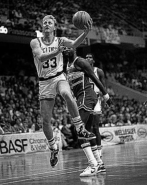 Bob King (basketball) - Image: Larry Bird layup