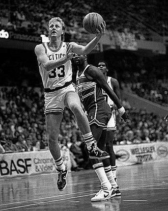 Larry Bird - Bird playing against the Washington Bullets