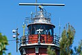 Laterna latarni morskiej Hel widziana od strony cypla.jpg