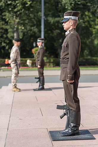 Freedom Monument - The Guard of Honor soldiers being inspected