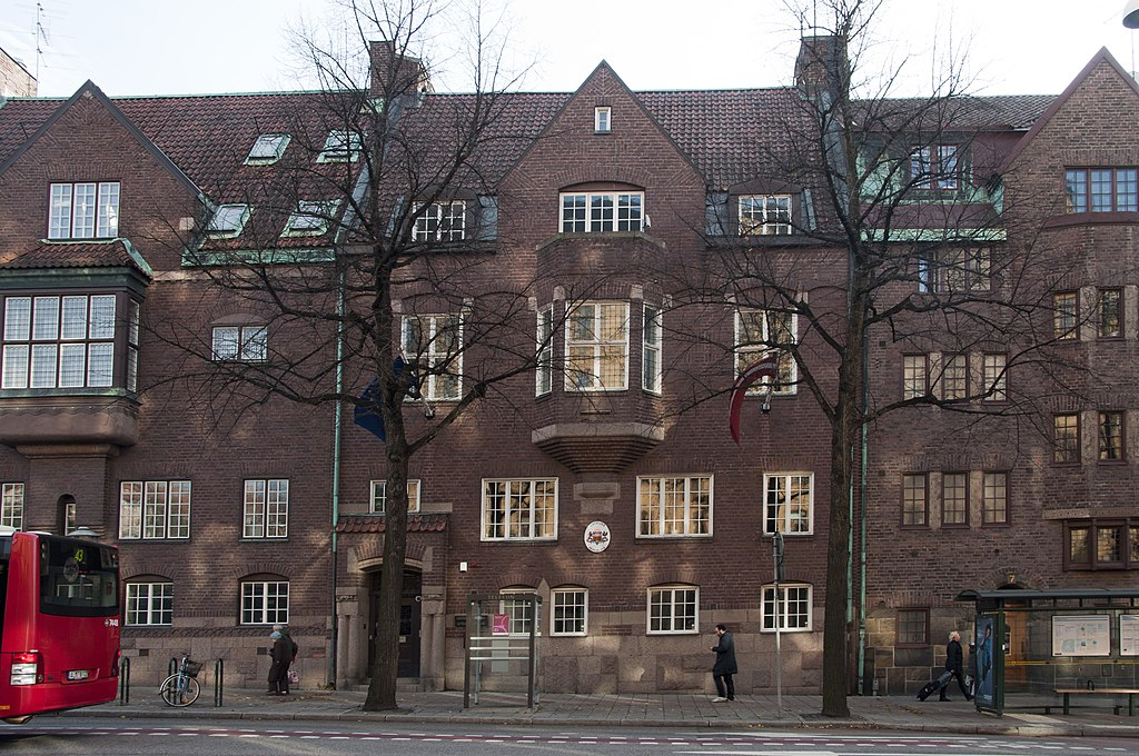 Latvian embassy in Stockholm.JPG